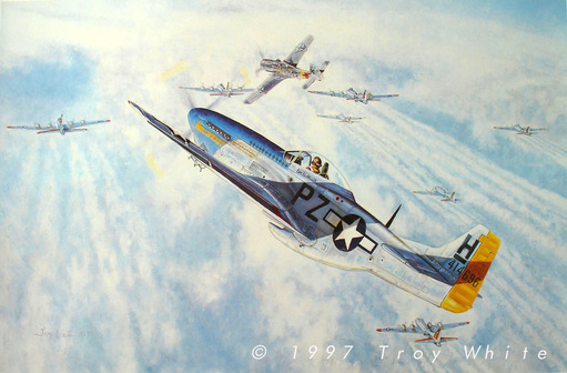 Ed Heller WWII ace 352nd FG P-51 Mustang WWII  USAAF