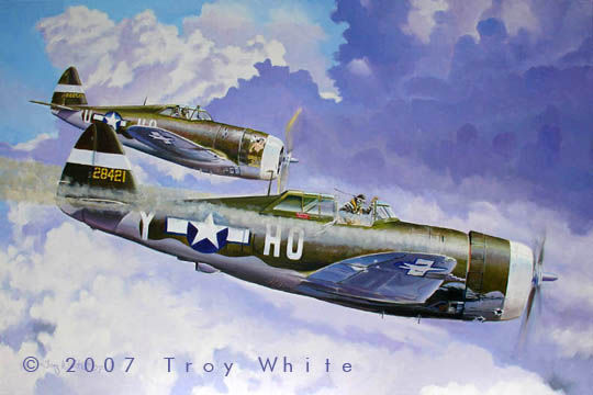 George Preddy P-47 Thunderbolt