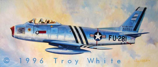 Glenn Eagleston F-86 Sabre Korea 4th FIW