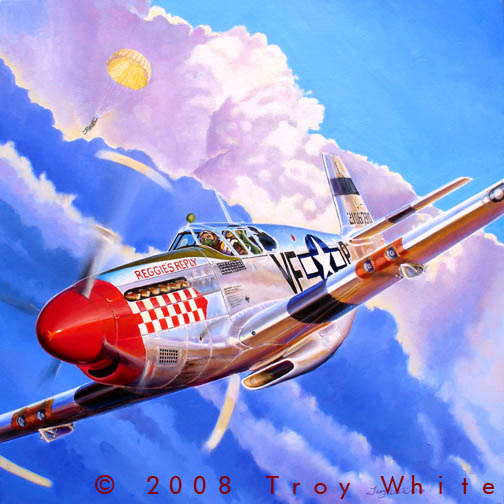Triple Ace Johnny Godfrey 4th Fighter Group WWII P-51 Mustang